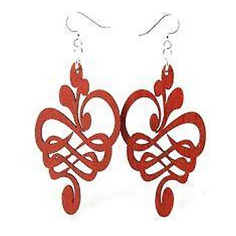 Calligraphy Flower Stretched Earrings