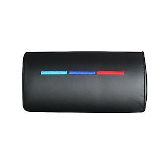 1pc Car Neck Pillow Leather Auto Car Neck Rest Headrest Cushion Pillow (bk)
