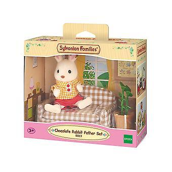 Sylvanian familier - chokolade kanin far sæt