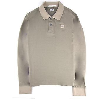 CP Company Cp Company Tacting Long Sleeve Polo Khaki