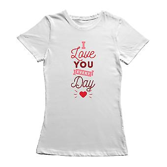 Valentine's Day I Love You February Red T-Shirt By Shutterstock