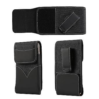 Holster ceinture nylon nouveau style avec clip en métal pivotant pour Motorola Moto G9 Plus (2020)