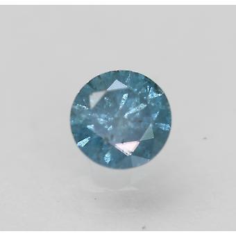 Cert 0.47 Karat Himmel blau SI3 Runde brillant verbessert natürlichen Diamanten 4,84 mm
