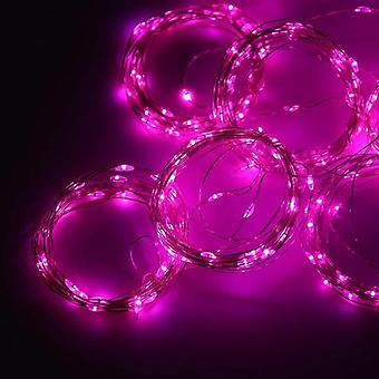 led kobber wire krans lys, fjernkontroll soverom dekorasjon