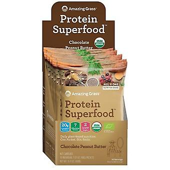 Amazing Grass Protein Superfood Chocolate Peanut Butter 10 sachets 430 g