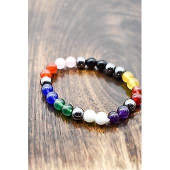 Mixed Stone Yoga Bracelet For Crystal Healing & Meditation