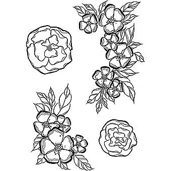 Spellbinders Cling Rubber Stamps Petites fleurs