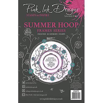 Pink Ink Designs Summer Hoop A5 Clear Stamp Set