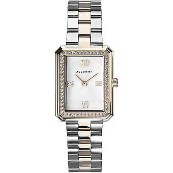 Accurist 8362s Stříbrné a zlaté dámské hodinky z nerezové oceli