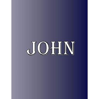 John - 100 Pages 8.5 X 11 Personalized Name on Notebook College Ruled