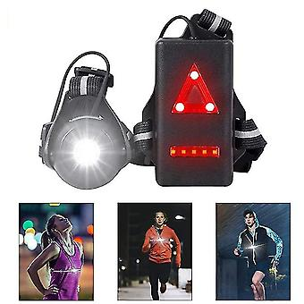 Night Running Light, Rechargeable Usb Rechargeable Chest Light With 90° Beam Angle