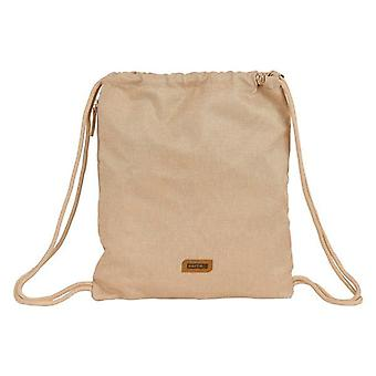 Backpack with draw strings safta beige