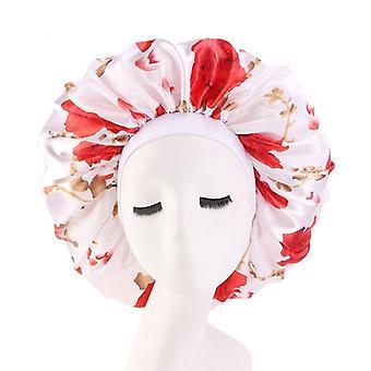 Güzellik Baskı Saten İpeksi Bone Uyku Gece Kapağı Baş Kapağı Kaput Şapka
