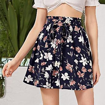 ملابس المرأة، التنانير الصيفية، السيدات شاطئ الأزهار أنيمي التفاف تنورة
