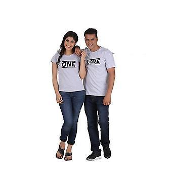 Eine Liebe (klassisch) klassische paar T-shirt grau