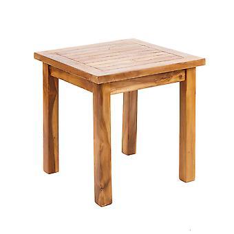 Solid Teak Wooden Coffee Side Table Weatherproof Outdoor Garden Furniture Patio