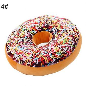 Donut Food Plys, Udstoppet Kaste Pillow, Soft Seal, Party Hold, Baby Sleeping