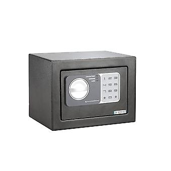 Caja fuerte de acero digital electrónica segura pequeña - Caja de depósito de seguridad de dinero para el hogar 4.6L