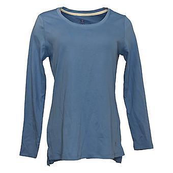 Isaac Mizrahi En direct! Femmes's Top Long Sleeve Jersey Blue A389762