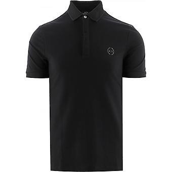 Armani Exchange Schwarz Regular Fit Polo Shirt
