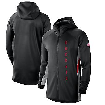 Houston Rockets Silver 201920 Earned Edition Showtime Full-zip Performance Hoodie