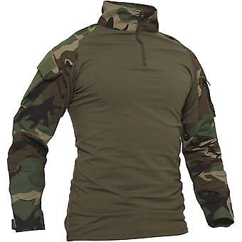 HanFei Slim Fit Herren Baumwollhemd Outdoor Militär T-Shirt mit Tasche
