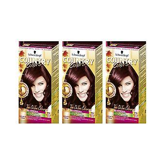 Schwarzkopf Country Colours 75 Madagascar Rouge Noir Semi-Perm Hair Dye x 3