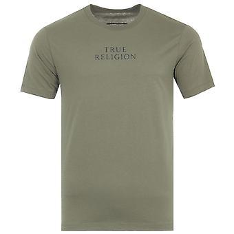 True Religion City Horseshoe Emblem Crew Neck T-Shirt - Kalamata