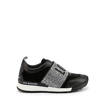 Love Moschino - Shoes - Sneakers - JA15332G0BJO-V000 - Women - black,silver - EU 40