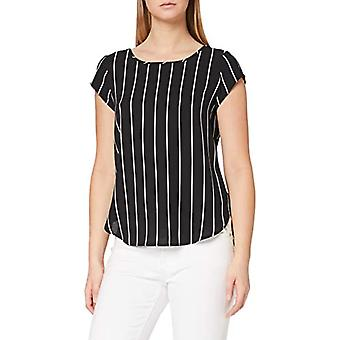 Endast Onlvic SS AOP Top Noos Wvn Dressing Gown, Multicolor (Black Stripes: W. Cloud Dancer Ss19), IT 40 Woman