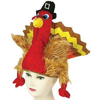 Turkije Pilgrim KERSTMUTS Thanksgiving Animal Farm Grappige Mens kostuum