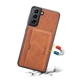 Slot per carte custodia in pelle portafoglio per samsung note10plus marrone pc1855