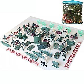 93pcs 第二次世界大戦軍用おもちゃセット戦場フィギュア9cm兵士とプレイセット