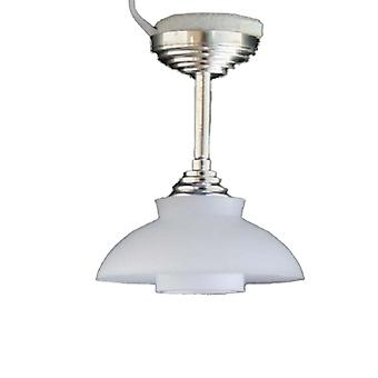 Dolls House Silver Teto Luz Branco Coolie Sombra Miniatura Iluminação Elétrica