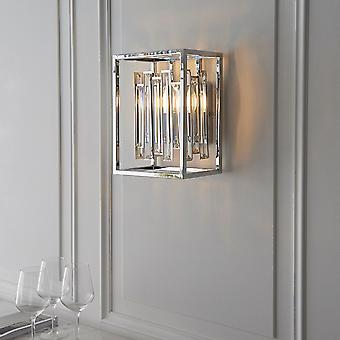 Endon Lighting Acadia Wall Light In Chrome And Glass Crystals
