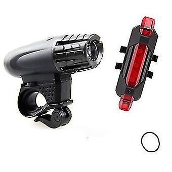 Style4 usb rechargeable bike light set bicycle accessories for night riding x6564