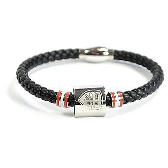 Arsenal Leder Farbe Ring Edelstahl Boxed Armband