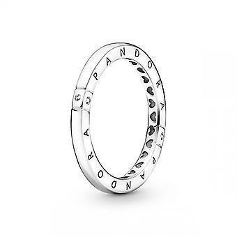 Ringer Kvinners Ring Logo og Hjerter Pandora Pandora Signatur - 199482C01 Sølv