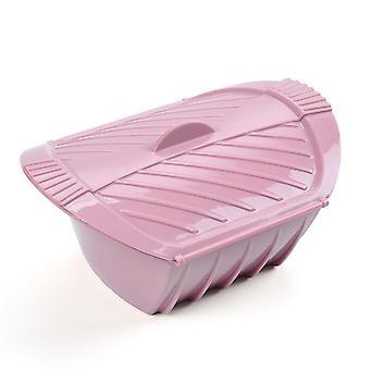 Horno de microondas vaporizador de silicona con tapa