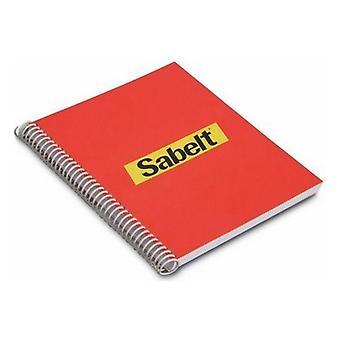 Notepad Sabelt Red