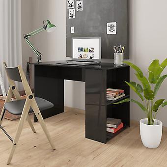 vidaXL Skrivebord Højglans Sort 110×60×73 cm spånplader