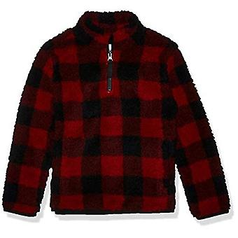 Essentials Girls' Quarter-Zip High-Pile Polar Fleece Jackets