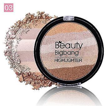 Face Makeup Rainbow Iluminador Highlighter Powder Palette Bronzer Contour  Bronzers & Highlighters