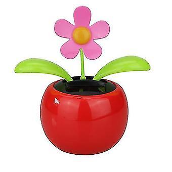 Solar schwingende Sonnenblumenblume Spielzeug Ornamente (Rot)