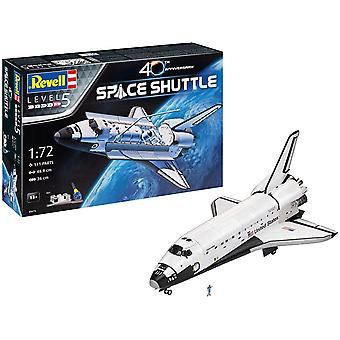 5673 Geschenkset NASA Space Shuttle, Jubiläumsset, Raumschiffmodell 1:72, 48,9 cm Zubehör,