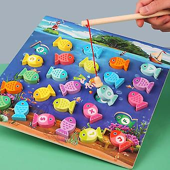 Fishing Wood Fun Game Toys Wood 3d Puzzle Magnetic Fishing Toys Kids Educational For  Toys