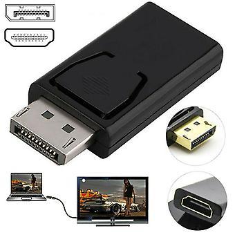 Display Port DP Férfi HDMI 1080P női lapos adapter csatlakozó konverter PC-hez