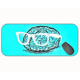 (750X300X3)  Xxl Professional Large Mouse Pad,Brain Blue Professional Mousepad,Stitched Edges