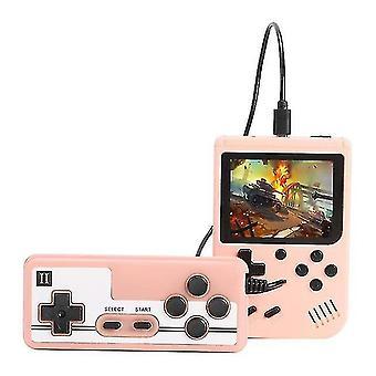 Sisäänrakennettu 800 Classic Games 8-bittinen videopelikonsoli (vaaleanpunainen)