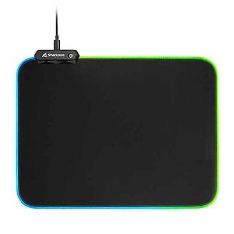 Spill Mus Mat Sharkoon 1337 RGB V2 Gaming Mat Svart